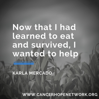 Now that I had learned to eat and survived, I wanted to help