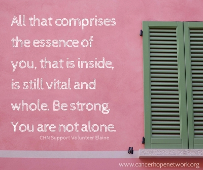Be strong. You are not alone