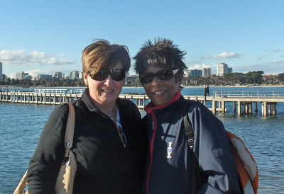 Yolanda and partner Claudia in Australia