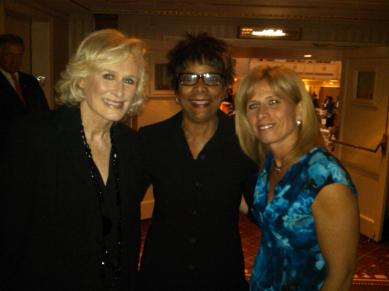 Actress Glenn Close, NYPD Deputy Police Chief Theresa Shortell and Yolanda